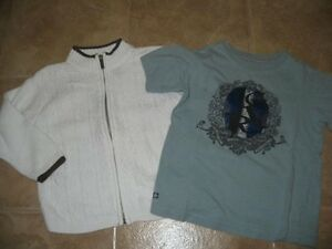 Kenneth Cole Zippered Cardigan and Tee - Size 5