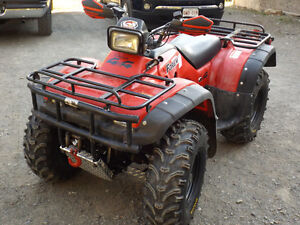 Honda Foreman 450 and brand new tilt utility trailer