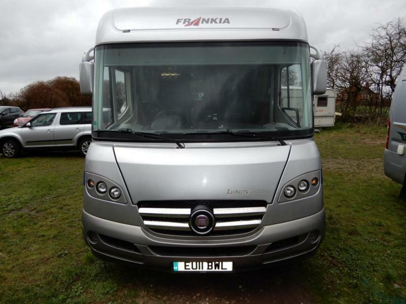 992acd1255 Frankia 840 QD Luxury Class 4 Berth 2011 Rear Fixed Bed Motorhome For Sale