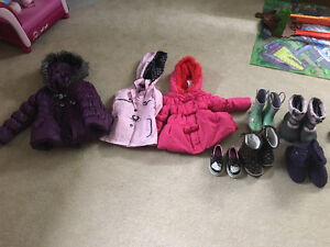 Size 3 fall/winter coats and boots - Girls