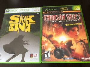 Two Xbox Games, Sneak King and Crimson Skies