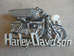 Vintage collectible Harley Davidson skull belt buckle London Ontario image 1