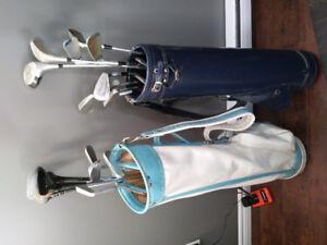 Deux sac de golf pour 15 $