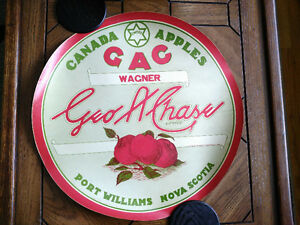 "1950s Original Apple Barrel Label - Port Williams NS ""Wagner"""