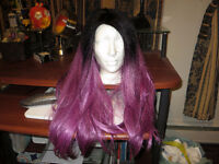 High-end synthetic wig. Looks like real hair!