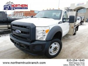 2015 Ford Super Duty F-550 DRW 4x4 LONGBOX FLATDECK ONLY 27KM