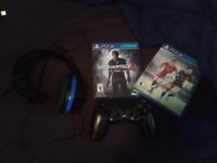 PS4 games, head set &  controller