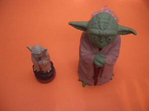 "VINTAGE 1981 YODA RUBBER HAND PUPPET STAR WARS 8"" TALL ESB"