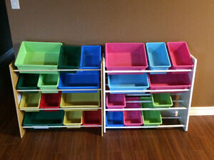 Children's table/stools and toy storage