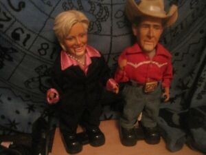 Bush and Hillery dancing dolls