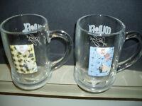 Don Cherry 16 oz. Glass Mugs Yellow Suit & Blue Suit (2)