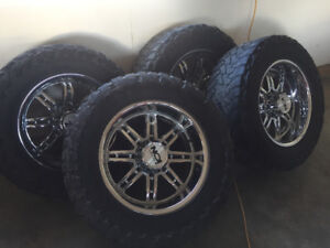 "20"" Ion Alloy rims and toyo M/T tires"