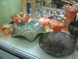 CARNIVAL GLASS ITEMS FROM $10.00 TO $100.00 EACH
