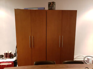Wardrobe, TV Cabinet, desk, TV 49 inch, Sofa, Ottoman, cof table
