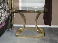 Pair of Brass Side Tables - LAST CHANCE!!
