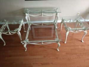 Glass tables great for holiday entertaining.