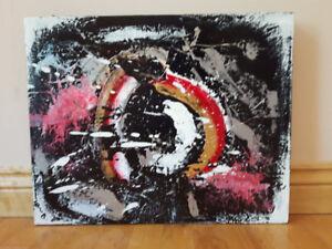 Art toile irréversible acrylique abstrait VERNIS
