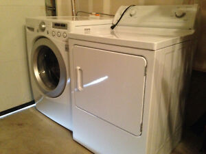 Front Load LG Washer and GE Dryer