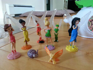 Tinkerbell Tea Set and Small Figurines
