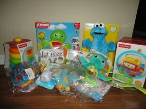 Assortment of 9 Baby & Toddler Toys, Never Used