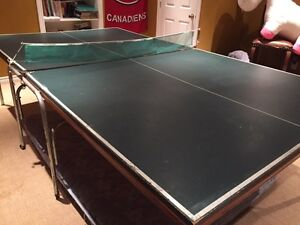 Ping pong table with accessories