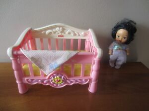 """DOLL & """"FISHER PRICE"""" CRIB - $2.00 for BOTH"""