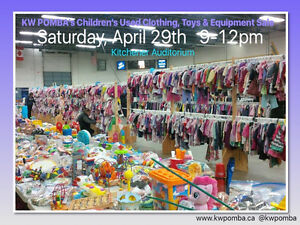 KW POMBA's Children's Used Clothing, Toys & Equipment Sale