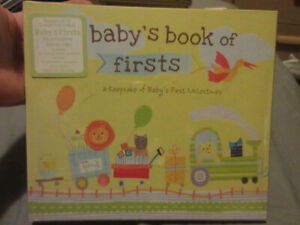BABYS BOOK OF FIRSTS BRAND NEW