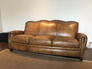 Heirloom Quality Leather Sofa In Perfect Condition
