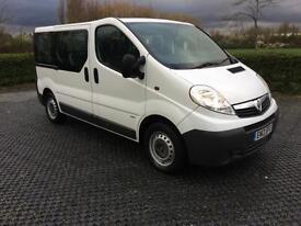2013 Vauxhall Vivaro Ecoflex 9 Seater Minibus 2.0 CDTI SWB Low Miles 1Owner FSH