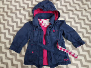 Spring jacket trench coat girl size 18-24mo