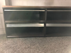 4 drawer lateral filing cabinet with countertop