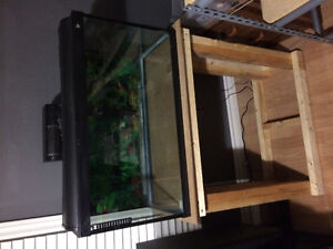 30 gallon tank with wooden stand