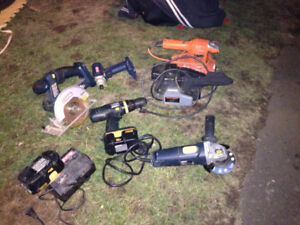 Assortment of power tools for sale