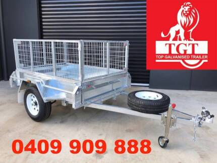6x4 BOX TRAILER HOT DIP GALVANISED WITH NEW TYRES, Price Inc. GST The Basin Knox Area Preview