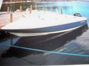 17 ft 4 inch motor boat with trailer for sale