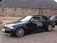 BMW E46 325i M Sport Convertible, 2001, 98k Miles, Black, 2001, MOT: July 2018
