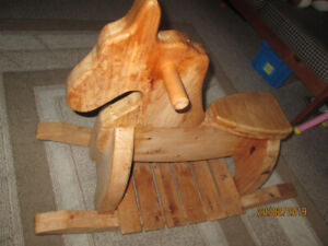 WOODEN ROCKING HORSE-SOLID