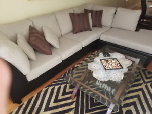 Very Modern Sectional Sofa Couch (MOVING SALE)