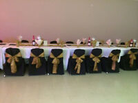 CHAIR COVERS, TABLE CLOTHS AND SASHES FOR RENT