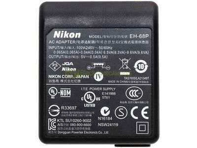Nikon Alimentatore a rete EH-68P ORIGINALE. USB power supplier.