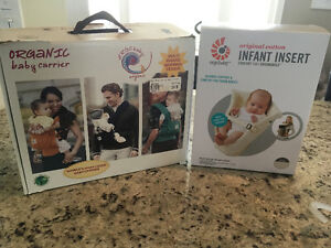 Ergo organic baby carrier and infant insert