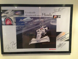 PORTRAIT F1 HONDA ARTWORK PRINT SIGN J.VILLENEUVE/ZONTA/MANNING