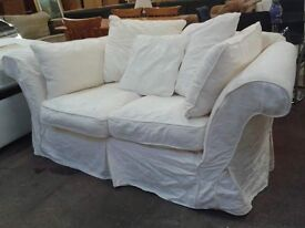 2 seater sofa with removeable covers and scatter cushions