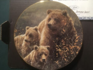 Denali Family(Bears) - Bradford Exchange Collector Plate