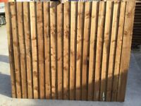 Budget 6x5 feather edge close board fence panels