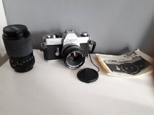 Canon TLb SLR Camera with Canon 50mm F1.8 FD lens