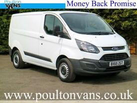 2015 (65) FORD TRANSIT CUSTOM 290 ECO-TECH L1 H1 SWB PANEL VAN - 2.2TDCI,100PS