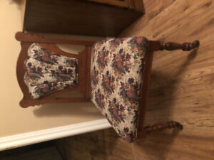 Antique Chez Lounge & Matching Chair