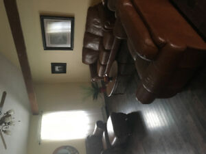 Beautiful Leather sofa, loveseat, chair and ottoman